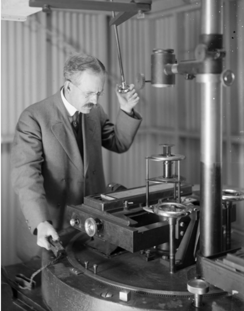 George Ellery Hale at the Spectrograph